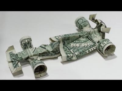 Formula 1 Race Car - Money Origami