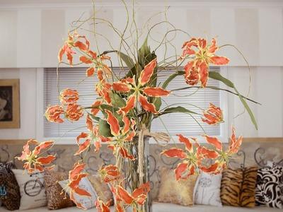 Gloriosa and Willow Arrangement Floristry Tutorial