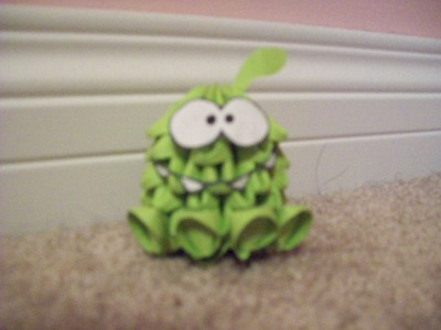 How to 3D Origami Om-Nom (Cut the Rope)