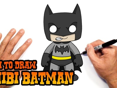 How to Draw Batman (Chibi)- Beginners Art Lesson