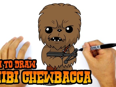 How to Draw Chewbacca (Chibi)- Step by Step Art Lesson
