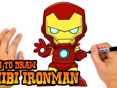 How to Draw Ironman (Chibi)- Kids Art Lesson