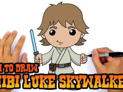 How to Draw Luke Skywalker (Chibi)- Kids Art Lesson