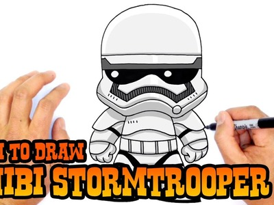 How to Draw Stormtrooper (Chibi)- Kids Art Lesson