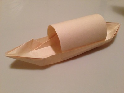 How to Fold Origami Boat Canoe with Canopy Tutorial
