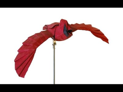 How to make an Origami Cardinal