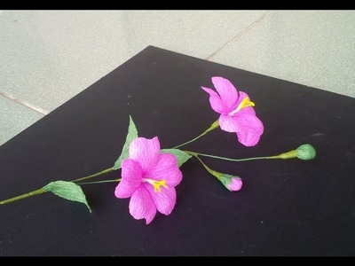 How to make paper flower with crepe paper #3 - Craft tutorial