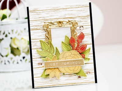 Just For You Card using Striped Flowers from Altenew