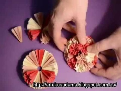 Kusudama venus II - how to make - tutorial