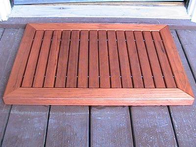 Make a wood doormat