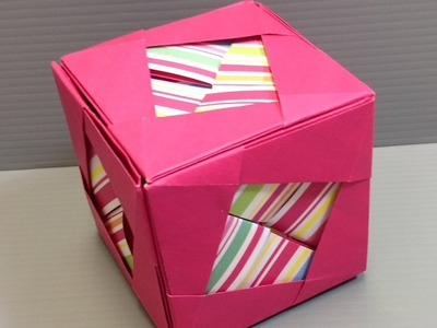 Make an Origami Camellia Cube Kusudama