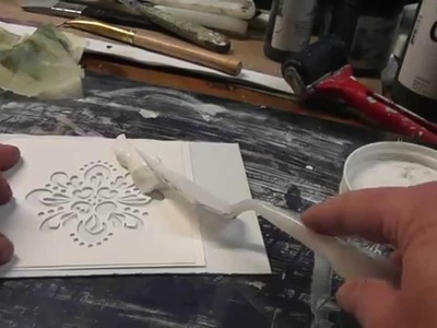 Make Your Own Embossing Plate From Stencil
