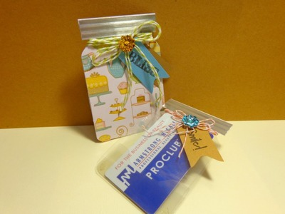 Mason Jar Gift Card Holder using Envelope Punch Board