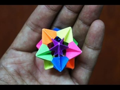 Modular Origami - How to make Modular Star Sphere Origami