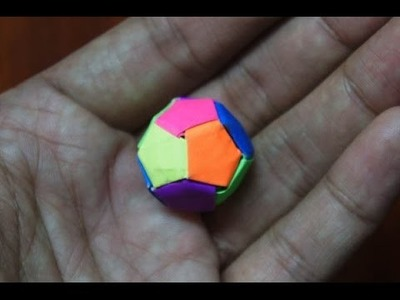 Modular Origami - How to make Modular Mini Ball Origami