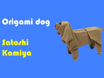 Origami dog by Satoshi Kamiya - Part 1