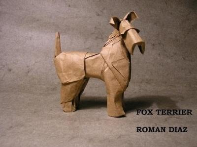 Origami fox terrier by Roman Diaz