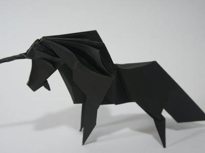 Origami Giveaway #7 - Black Unicorn (Román Díaz)