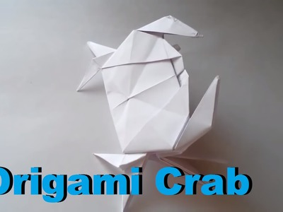 Origami. How to make origami crab. Paper crab