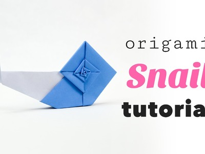 Origami Snail Tutorial from Origami Garden by Ioana Stoian ♥︎