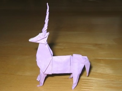 Origami Unicorn by John Montroll (Part 1 of 2)