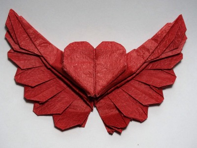 Origami winged heart 2.0 for Valentine (teaser)