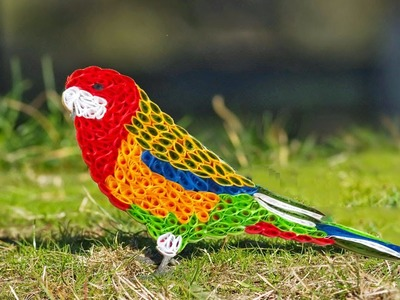 Paper Quilling;Hand made Easy making beautiful parrot