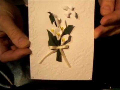 Punch art calla lily flower