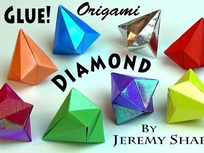 REAL Origami Diamond -- NO GLUE!