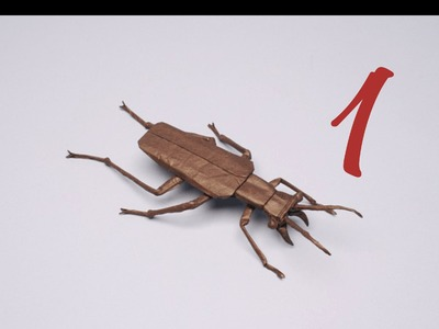 Salt Creek Tiger Beetle by Robert J. Lang (TUTORIAL) Part 1