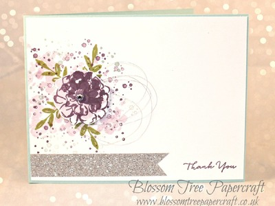 Stampin' Up! What I Love & Timeless Textures Thank You Card