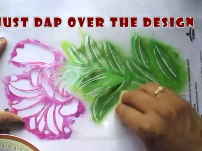 STENCIL PAINTING IN  FABRICS