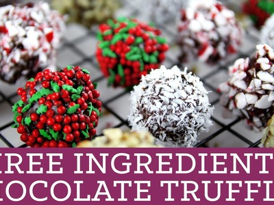 3 Ingredient Chocolate Truffles, Perfect for Christmas! - Mind Over Munch Episode 38