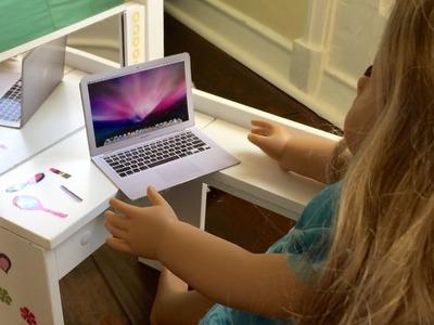 American Girl Doll Mac Laptop