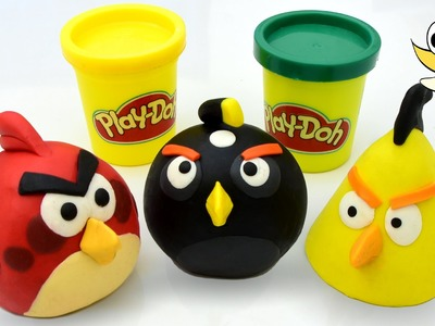 Angry Birds Play doh STOP MOTION playdo claymation video [HD] 1080p