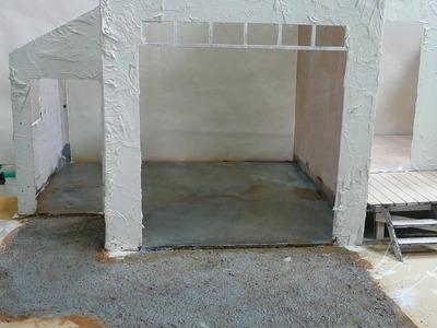 Building a Mini Building  the Look of Poured Concrete