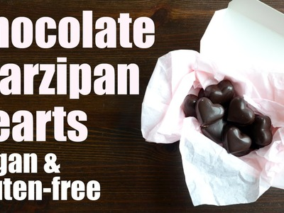 Chocolate marzipan hearts (vegan & gluten-free) Something Vegan