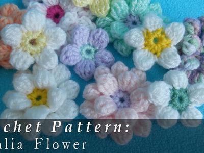 Dahlia Flower { Crochet }