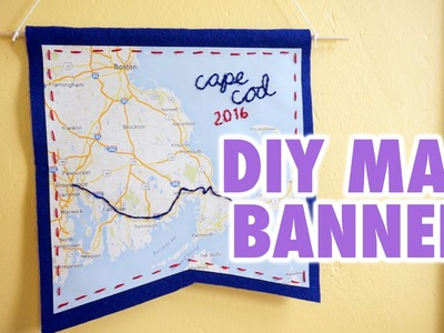 DIY Customizable Map Banner - HGTV Handmade