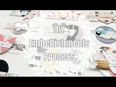 DIY Embellishments. Less Scraps, More Embellies!. Layered Pieces