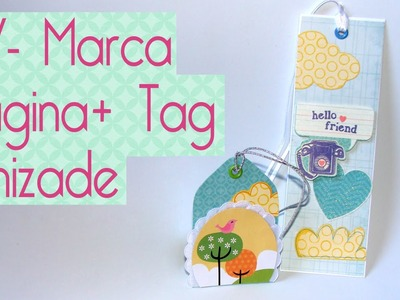 DIY marca pagina e tag Amizade- Scrapbook by Tamy