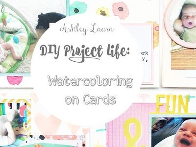 DIY Project Life: Watercoloring and Week 6 process