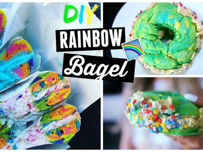 DIY Vegan Rainbow Bagels! | Buzzfeed.Pinterest Recipe TESTED!