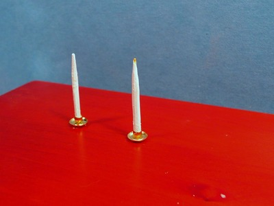 Dollhouse Miniature Candles and Holders