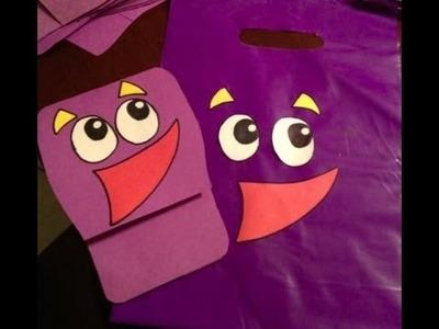 "Dora the Explorer ""Backpack"" Invitations & Goody Bags Tutorial"