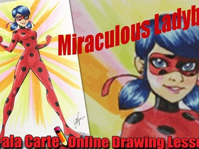 how to draw miraculous ladybug step by step