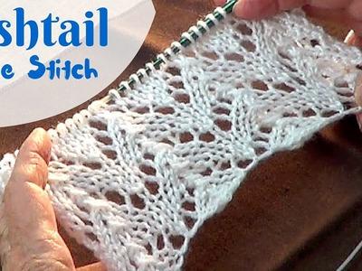 Fishtail Lace Stitch | Knitting Fishtail Lace Pattern