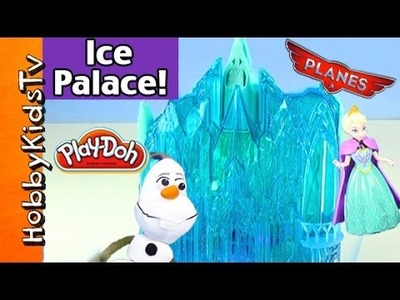 FROZEN Elsa Ice Palace! Olaf Gets Eaten + Surprise Egg HobbyKidsTV