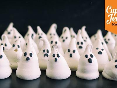 Halloween Special Pt.3 | Meringue Ghosts Recipe | Cupcake Jemma