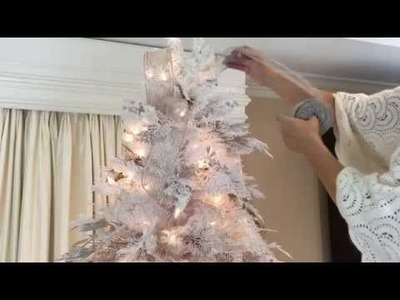 How to Add Ribbon to Your Christmas Tree (Part 5 of 8)